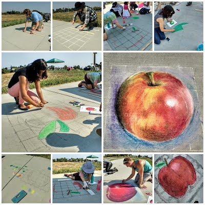 Chalk art process
