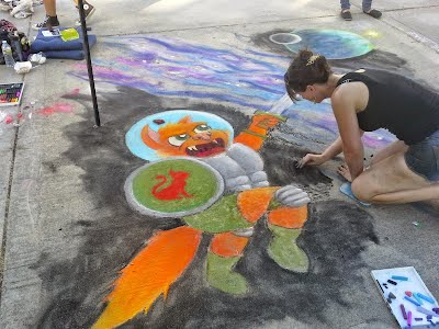 Campbell Middle School Chalk Art Festival
